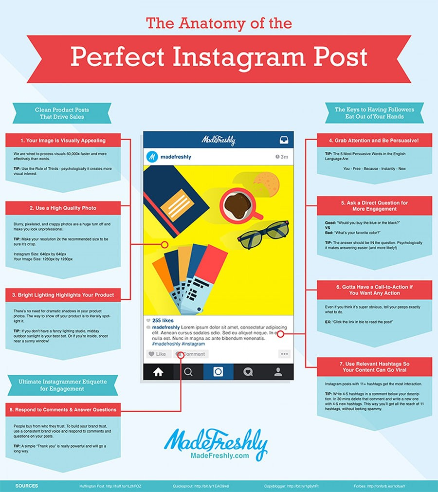 How to Succeed on Instagram: The Anatomy of a Perfect Post [INFOGRAPHIC]