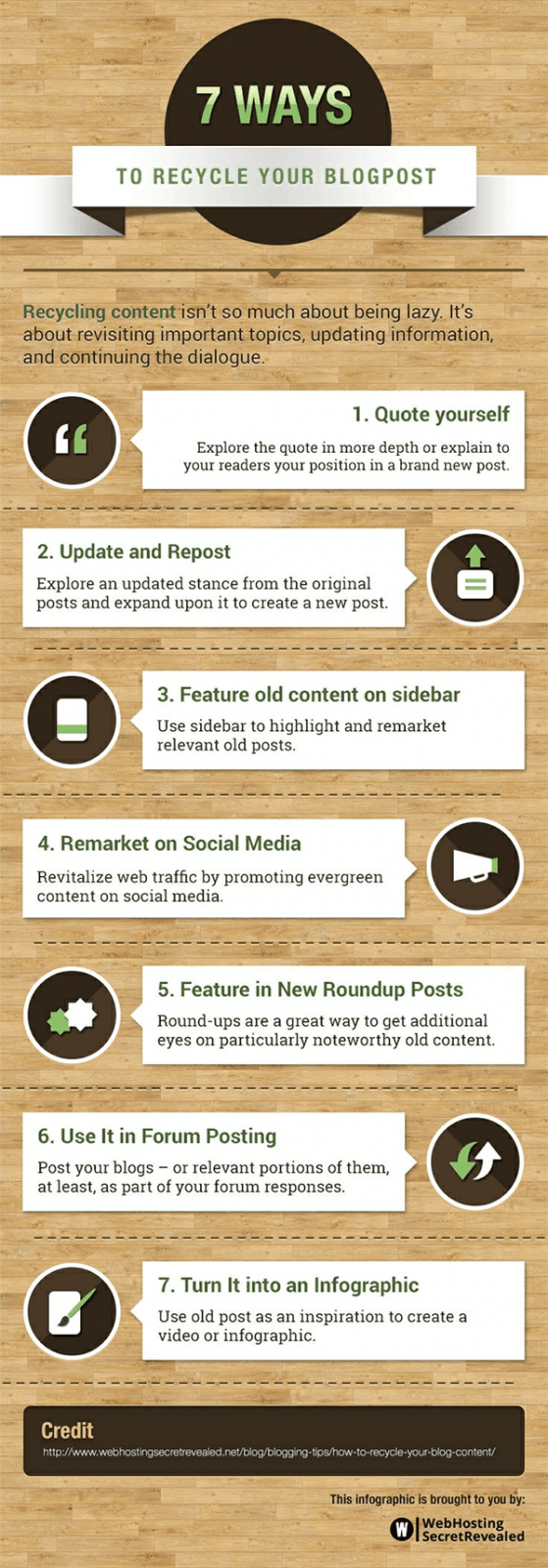 7 Ways to Recycle Old Blog Posts - Infographic